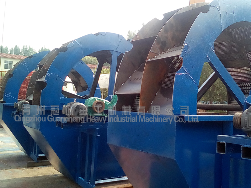 wheel type sand washing plant