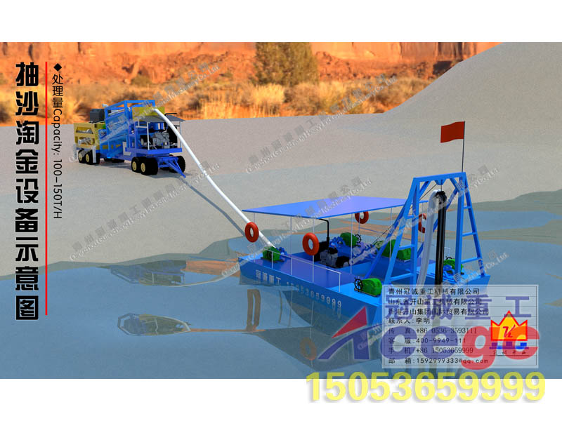 Capacity100-150tph Jet suction dredger