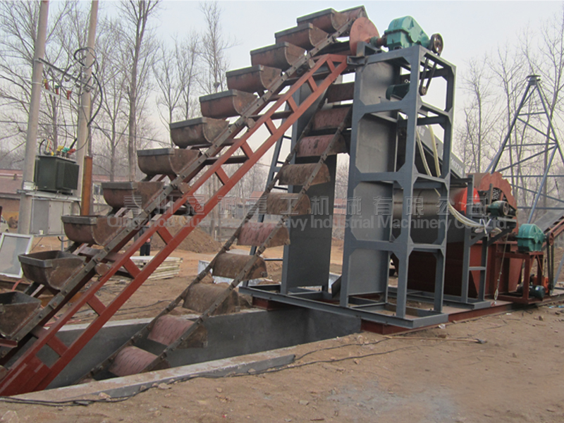 Marine sand washing and desalinating equipment